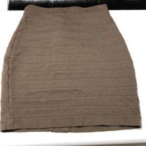 Express taupe bandage pencil skirt